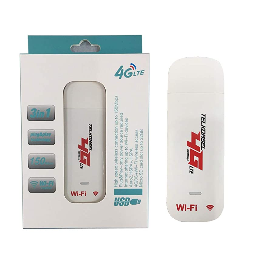 Rabortw 良い品質WiFiホットスポットSIMカード4Gワイヤレスルーター付き4G LTE USBモデムネットワークアダプター
