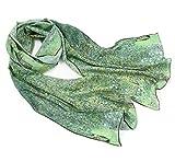 prettystern pañuelo de mujer de seda bufanda chal Gustav Klimt impresión de arte el parque P899