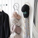 2pcs Organizer per Cappelli, Porta Rack per Berretti da Baseball, Ganci Appendiabiti per Cappelli da Baseball, Porta espositore Cappelli per Sciarpe, Vestiti, Asciugamani, Cravatte, Cappelli
