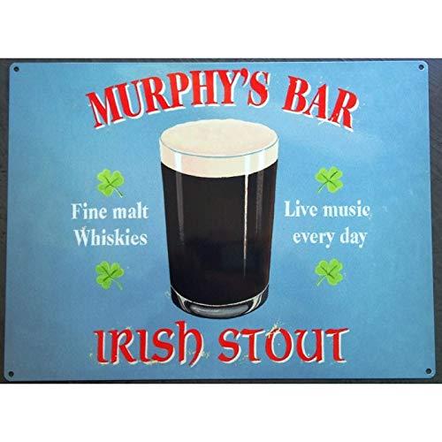 Platte Murphys mit Bierflasche Irish Stout blau Kabelrinnen Deco Bire Irland