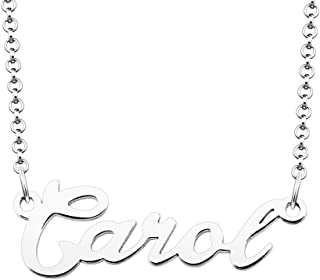 925 Sterling Silver Customized Name Necklace Personalized with 18 Inch Chain