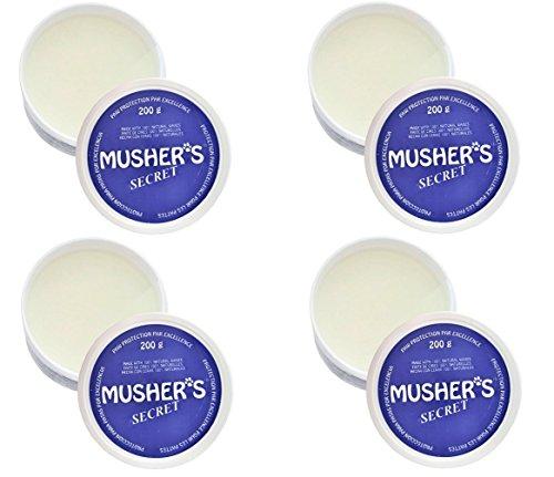 Musher's Secret Invisible Dog Boots Wax-Based Cream 200 Gram 4 Pack Bundle
