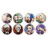 redCherry Anime Broschen Button Badges Pins Set für Kleidung Rucksack Federmäppchen(1.Tokyo Ghoul) -
