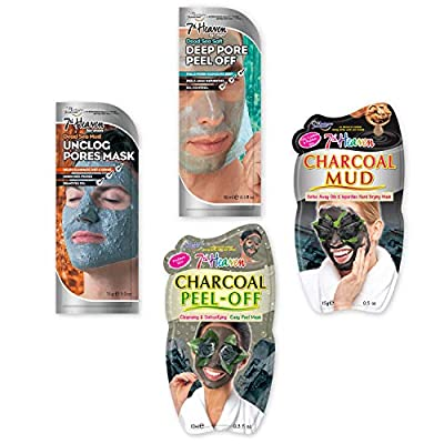 7th Heaven 'Hers & His' (Problem Skin) Face Mask Pack with Assortment of Charcoal Face Masks for Cleansing and Detoxifying, Ideal for Oily, Problem and Combination Skin by Montagne Jeunesse