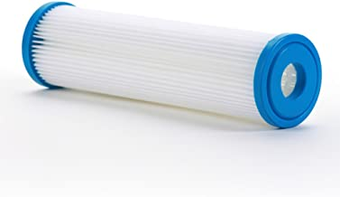 """Hydronix SPC-25-1030 Polyester Pleated Filter 2.5"""" OD X 9 3/4"""" Length, 30 Micron"""