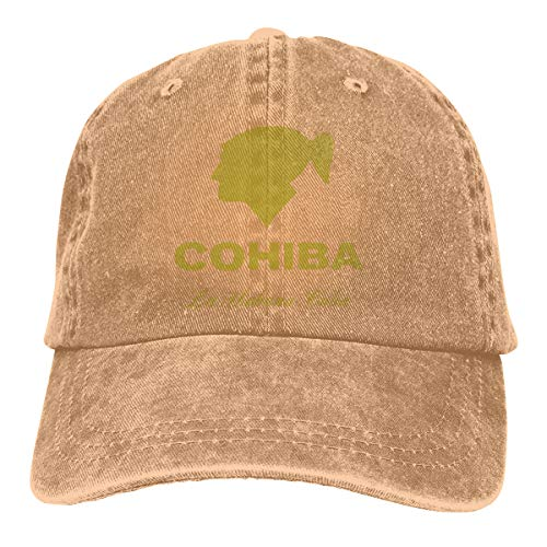 ThomLarryCA Cohiba Ciga Unisex Cowboy Hat Vintage Beach Baseball Cap Natural One Size