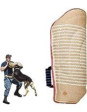PetGens Hilt-Guard - Funda protectora para mordidas, de yute suave para protección de mordidas, hecha a mano con un asa para entrenamiento de perros
