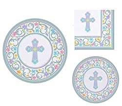 Religious Party Dinner Plates, Dessert Plates and Napkins