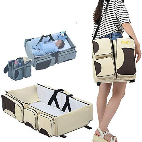 Acptxvh Viajes Mami Multifuncional Bolso y Cuna de bebé de Viaje Cama...