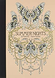 Summer nights coloring postcards by Hanna Karlzon