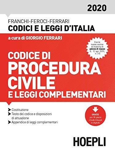Codice procedura civile e leggi complementari 2020