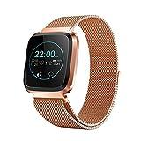 Coseyil Intelligente Uhr mit ganztägiger Herzfrequenz und Aktivitäts-Tracking-Schlafüberwachung Bluetooth-kompatibel mit Blutdruck für Samsung Android IOS