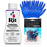 Rit Dye Color Stay Fixative Bundle with Gloves and Rubber Bands