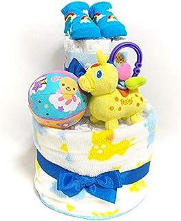 a25 おむつケーキ2段 男の子 ロディ キャラクターオムツケーキ 出産祝い