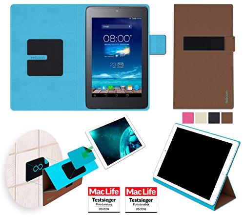 reboon Hülle für Asus FonePad 7 ME372CG Tasche Cover Hülle Bumper | in Braun | Testsieger