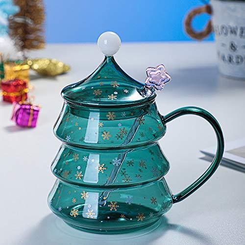 YChoice365 Vasos con leche, taza de vidrio con forma de árbol de...