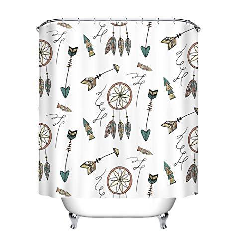 ZZZdz notenkraker van Sogni, donsdeken, douchegordijn, 180 x 180 cm, 12 haken, waterbestendig, gemakkelijk te reinigen, accessoires voor de badkamer.
