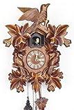 Orologio a cucù della foresta nera, in vero legno, con movimento al quarzo e cucù a batteria, 35 cm, 632 Q