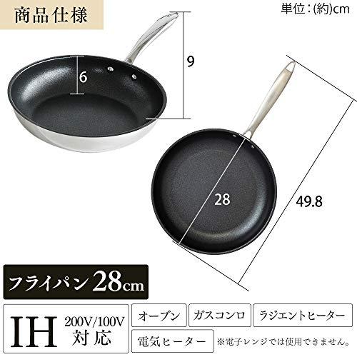 アイリスオーヤマ フライパン シルバー 28cm IH対応 SP-F28
