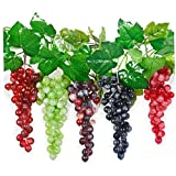 Yililay Artificial Plants, Mini Simulation Fruit Grape Bunch Artificial Grape Plastic Decorative Fruit Suitable for Home Wedding Party Garden Decoration