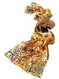 prettystern P823 - Gustav Klimt Stile Liberty Dipinto Arrotolato a Mano Pesante Sciarpa Raso di Seta...