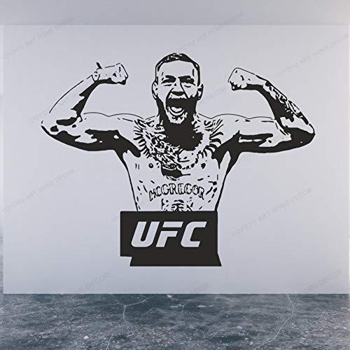 Conor Mcgregor UFC Boxboxer Champion Domineering Brüllende Wandaufkleber Kämpfer Muskel Vinyl Aufkleber Kinder Jungen Schlafzimmer GYM Hauptdekoration Kunst Wandbild Poster