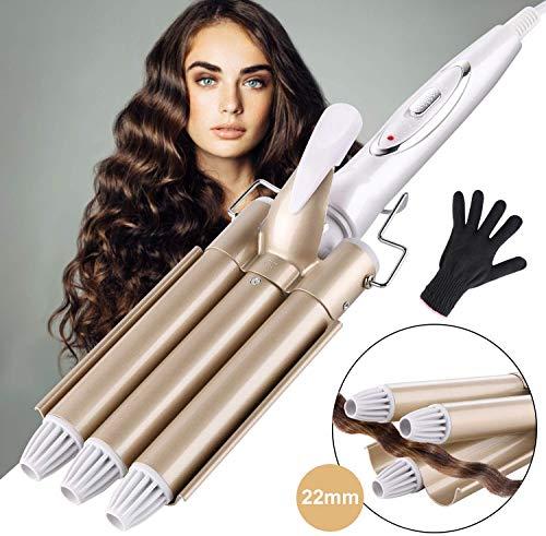 ShuBel Fer onduler Grandes Vagues Curl Version Professionnelle, Fer Friser Cramique Tourbaline, Bigoudis pour Cheveux...