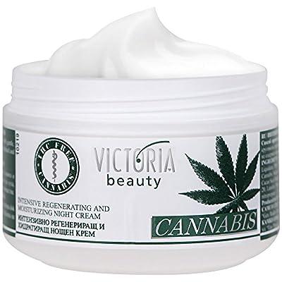 Cannabis Extract Night Face Cream - Natural Intensive Cream with Hemp Oil for Deep Nourishment - Super Moisturiser for Sensitive Skin - 50 ml by Camco Ltd