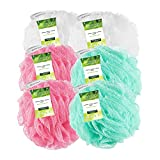 Ecotools Exfoliating Ecopouf (Pack of 6) Fine Netting Pouf; Rich Lather, Gentle Cleansing, and Exfoliation for Smoother, Softer Skin; Self Care Through Skin Care