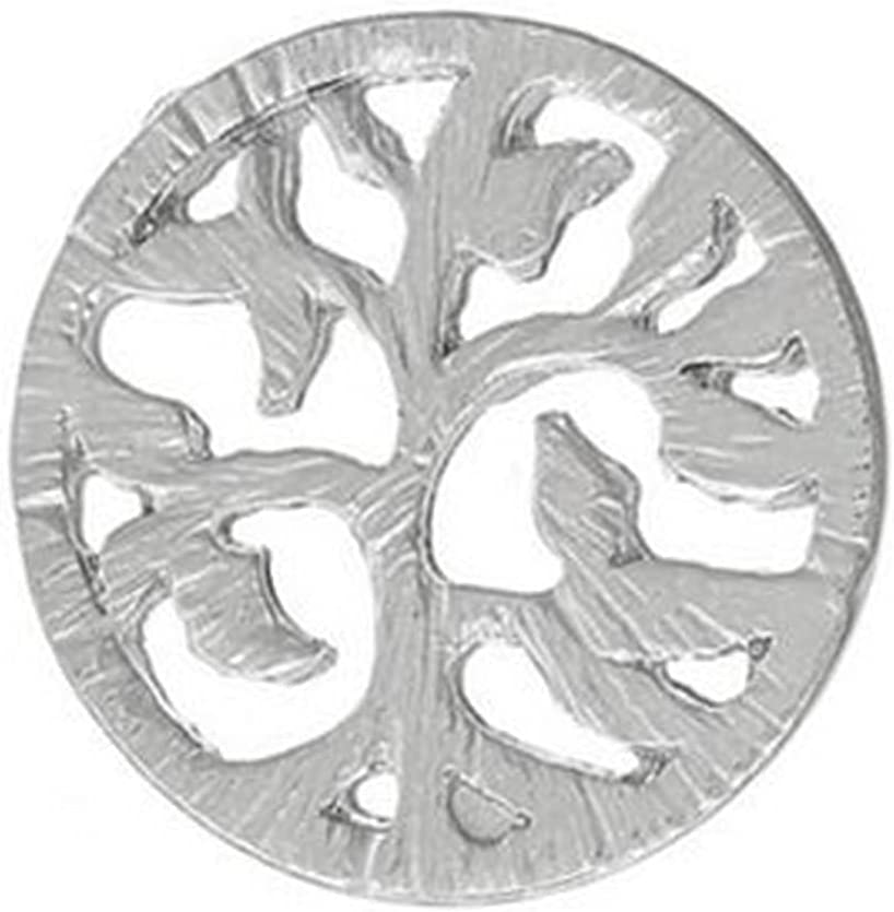 Omaha Mall New product type Family Tree Shape Silver 22mm Back Plate Charm Floating Disc