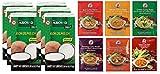 6 pastas diferentes de COCK Curry cada una de 50g (Rojo, Amarillo, Verde, Panang, Matsaman, Namya) +...