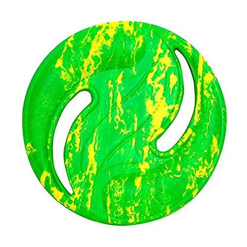 Eva Dischi Volanti Sport Acquatici Spiaggia Disco Volante Wave Gravity Disc Boomerang All'aperto Animali Addestramento Giocattolo Sport All'aperto, 224mm, verde