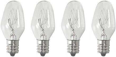 Sansai 4pk 7W/240V E12 Replacement Bulb Clear for Night Light DB-458/DB-459