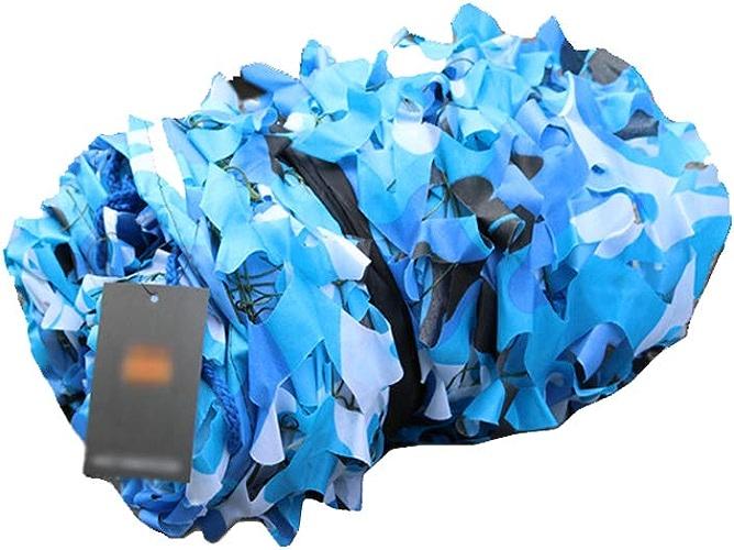 LVJING Tente Oxford en Filet de Prougeection Solaire Tissu De Camouflage Marin d'Oxford pour La Chasse Tirant Le Camping Caché Camping 2M 3M 5M 7M Décoration de Jardin de Photographie