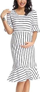 BBHoping Women�s Maternity Dress Short Sleeve Knee Length Casual Summer Pregnancy Dress