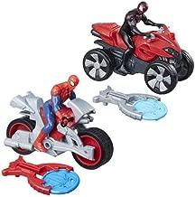Spider-Man Blast N' Go Racer with Cycle and Kid Arachnid with ATV.