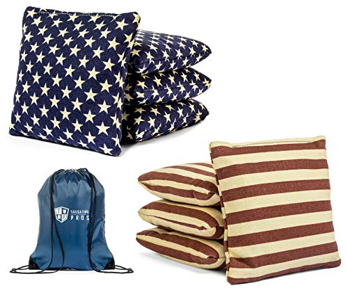 Set of 8 Corn Filled Cornhole Bean Bags Made with Regulation Duck Cloth (Tote Bag Included) 200+ Color Combinations