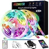 Led Strip Lights Reemeer Led Lights Strip 32.8ft App Controlled and Remote Led...