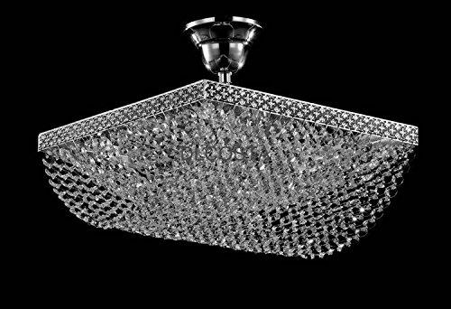 dlcosta 52006b-d304Licht E14Neue Messing Bronze Bohemia Stil Tschechische Kristall Kronleuchter l48W48cm Indoor Light