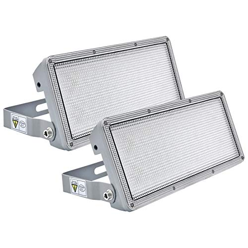 Kekeou LED Flood Light, Flood Light Outdoor 50W (2 Pack ), Outdoor Flood Light 100W (DIY), Super Bright, IP67, 6500K, LED Flood Lights for Yard, Garden, Porch