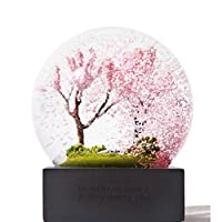 Anluddy クリスタルボールクリエイティブクリスタルボールの季節四季オプションクリエイティブな家の装飾の風景クリスマス誕生日の最高の贈り物と贈り物ギフトボックスとして春(ピンク) 8×8×5センチメートル ピンク