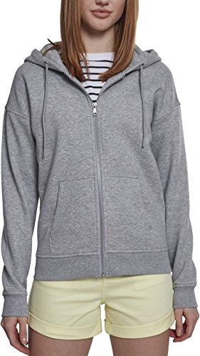 Urban Classics Damen Classic Zip Hoody Strickjacke, Grau (Grey 00111), Medium