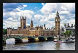 Poster Big Ben and The House of Parliament London, gerahmt,