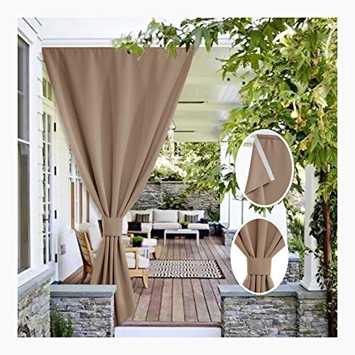 GDMING Outdoor Curtains Waterproof Sun Protection Pavilion Home Decoration Privacy Shade Cloth For Patio Balcony Garden With 1 Rope, 32sizes (Color : Brown, Size : 4x3m)