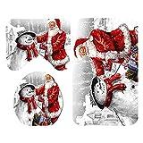 B Blesiya 3pcs Weihnachten Serie Badematte rutschfest Badvorleger Badeteppich Duschvorleger Badezimmerteppich, viele Form Auswahl - Weihnachtsmann