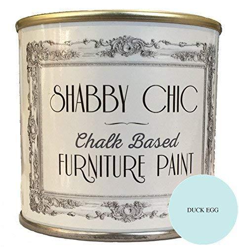 Shabby-Chic - Pintura a base de tiza para muebles, de estilo shabby chic, color: azul claro (Entenei-Blau), 250ml