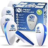 Ultrasonic Pest Repeller 6 Pack, Pest Repellent Electronic Plug in Indoor [2020 Upgraded] Pest Control, for Mice, Spiders, Roach, Mosquito, Flies, Bed Bugs, Safe for Humans and Pets