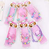 Aohua Juego de collar para niños de calidad superior con cuentas de color caramelo, accesorios para bebé joyería para niños (ninguno 3)