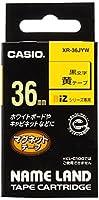 カシオ ネームランドテープ XR-36JYW 00038742 【まとめ買い3個セット】