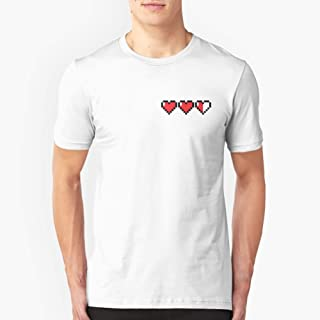 8Bit Heart Legend of Zelda Slim Fit TShirtT shirt Hoodie for Men, Women Unisex Full Size.